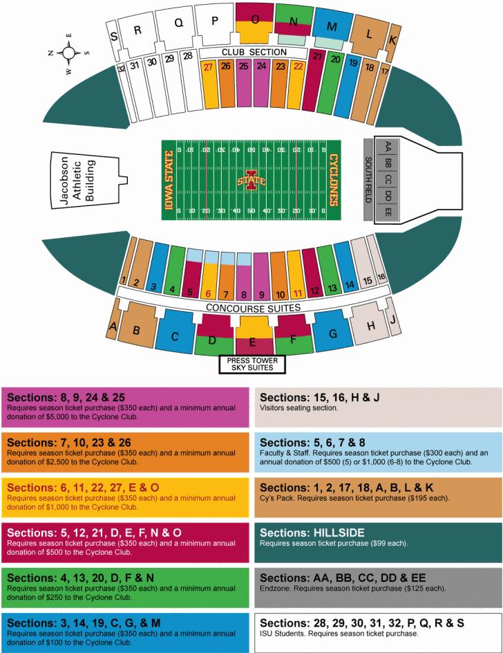 Isu Jack Trice Stadium Seating Chart Wallseatco