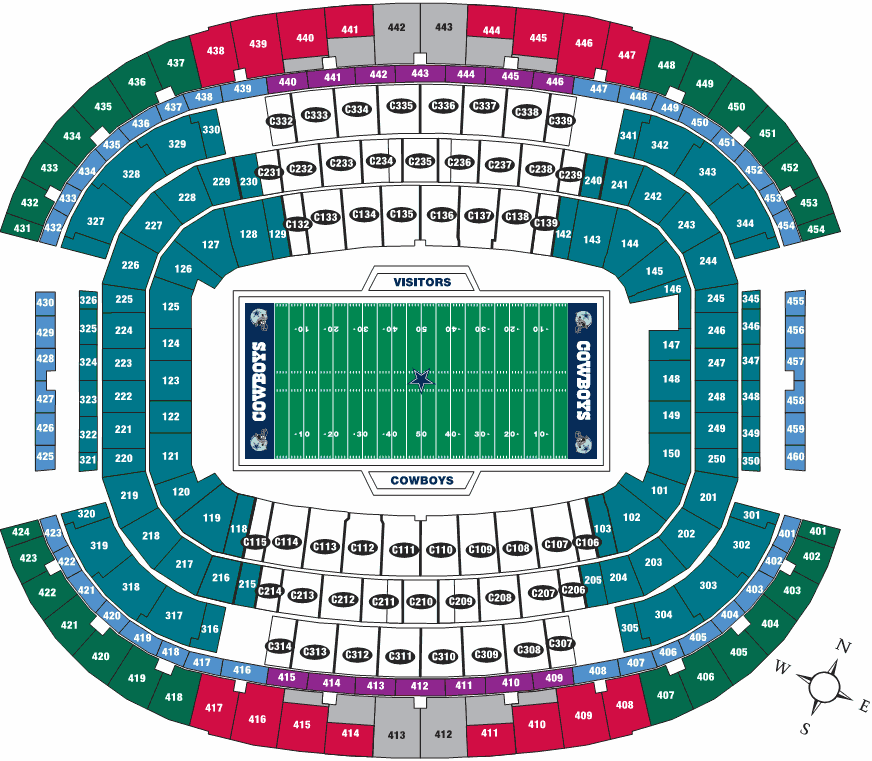 Cowboys stadium seating huskermax