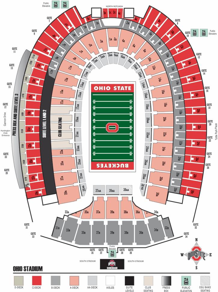 29 Original Ohio State Football Map Afputra Com