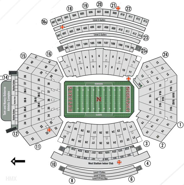 Memorial Stadium Map