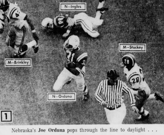 1970 Nebraska-Missouri football, Joe Orduna