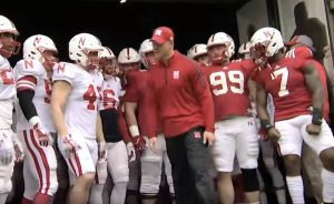 Scott Frost 2018 spring game tunnel walk