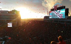 Balloons at Memorial Stadium
