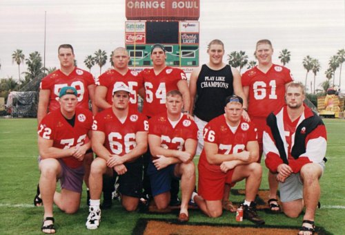 Nebraska O-Line pre-Orange Bowl
