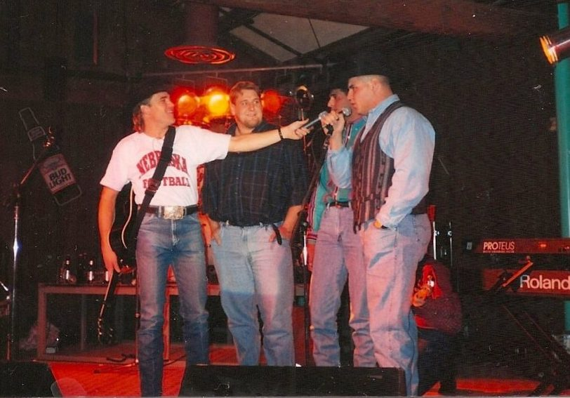 Country singer Doug Supernaw, Lance Lundberg, Brook Berringer & Kevin Raemakers