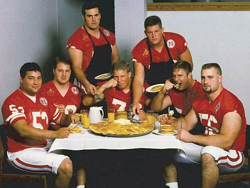 The Pancake Brigade: Rob Zatechka (far right)