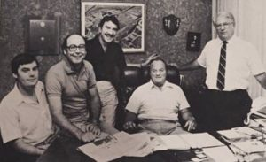 Mike Babcock, Randy York, Virgil Parker, Bob Devaney & Don Bryant