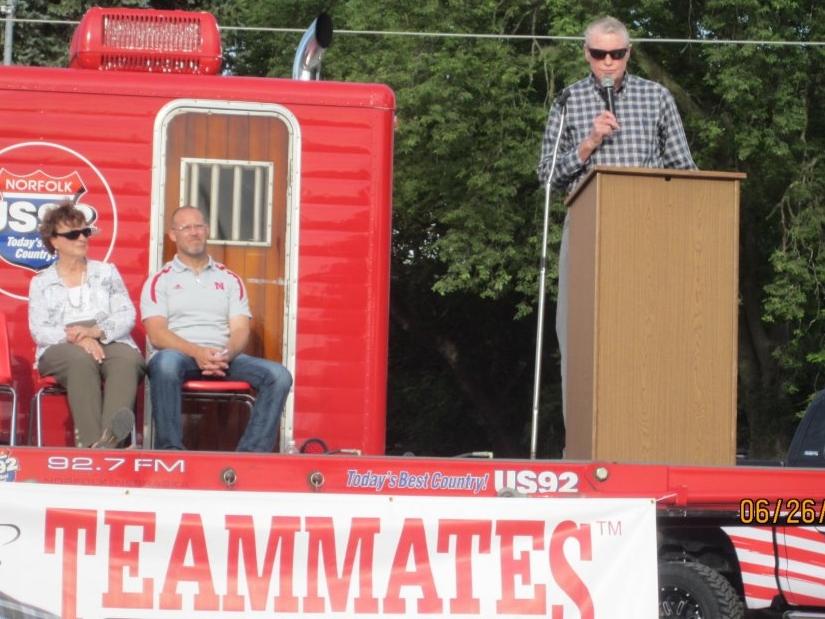 Tom Osborne and TeamMates