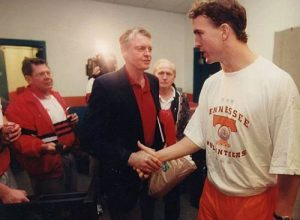 Tom Osborne and Peyton Manning
