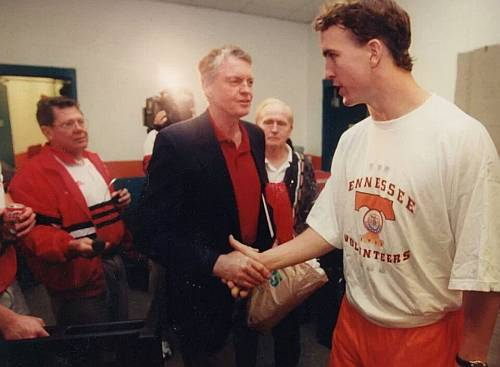 Tom Osborne and Peyton Manning