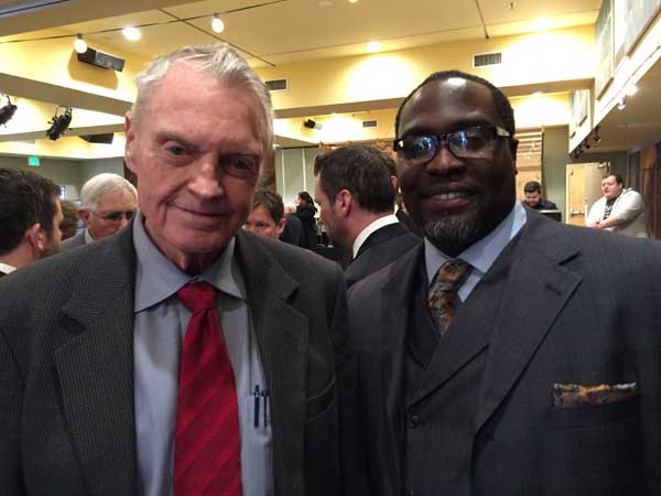 Vershan Jackson and Tom Osborne