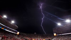 lightning at the game