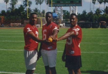 Toby Wright, John Reece & Kareem Moss at the Orange Bowl