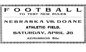 Daily Nebraskan's game-day notice