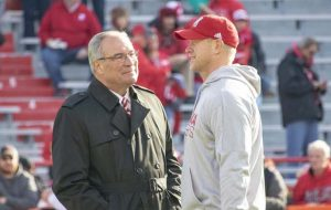 Bill Moos and Scott Frost