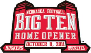 Big Ten home opener logo