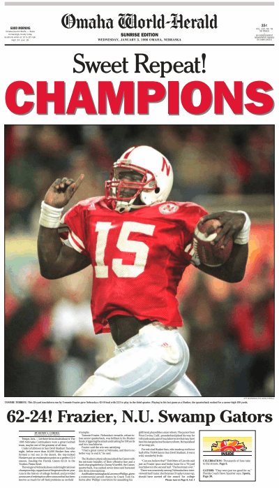 1996 Fiesta Bowl, OWH page 1