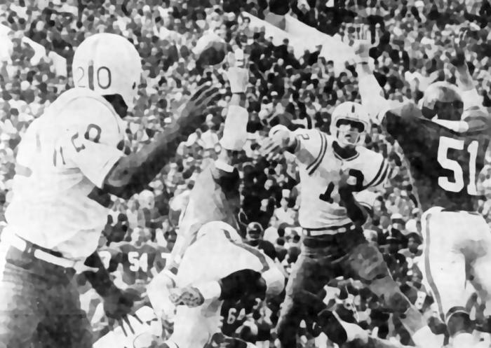 1970 Nebraska-Kansas football photo