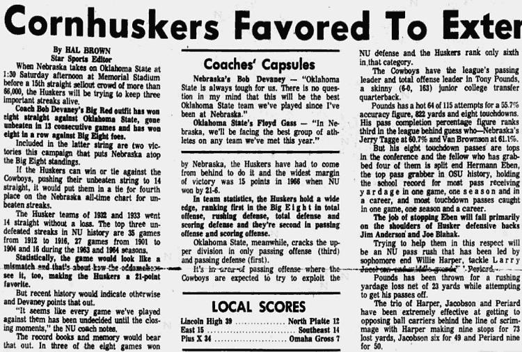 1970.10 Okla. State gameday