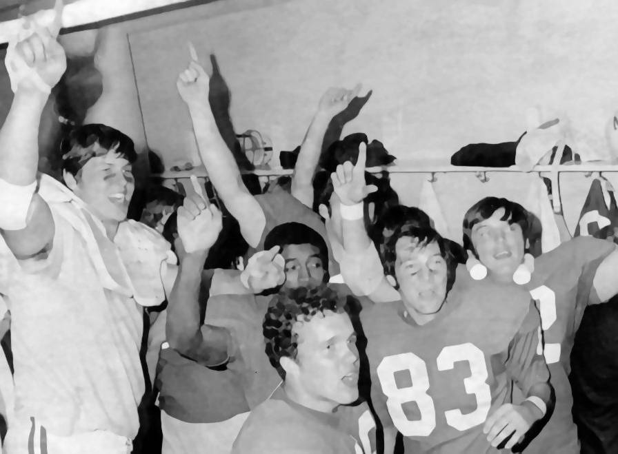 Postgame locker room Orange Bowl