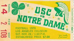 Notre Dame-USC ticket