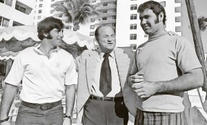 Dave Morock, Bob Devaney and Jerry Murtaugh