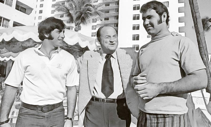 Dave Morock, Bob Devaney and Jerry Murtaugh