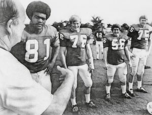 Bob Devaney with defensive line