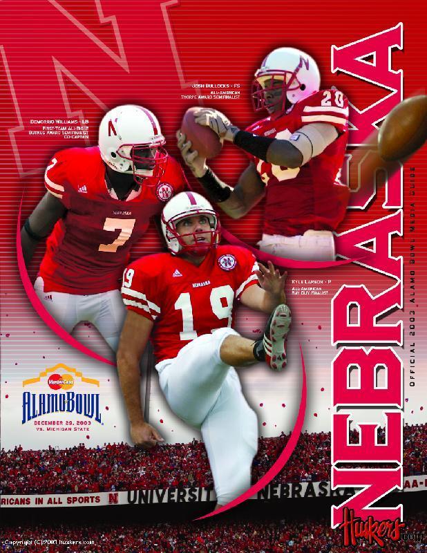 2003 Alamo Bowl Media Guide front cover